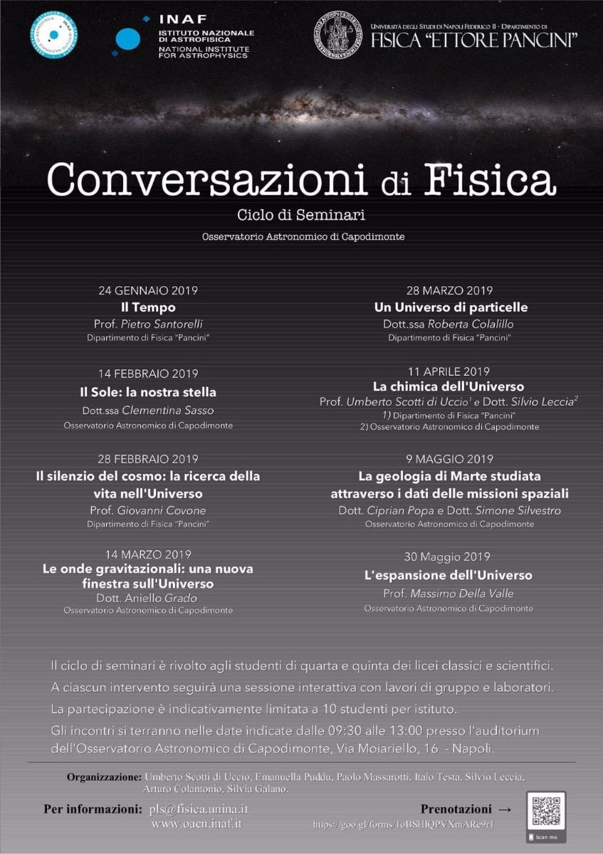 CONVERSAZIONI DI FISICA