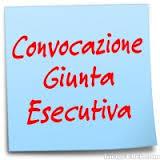 CONVOCAZIONE GIUNTA ESECUTIVA