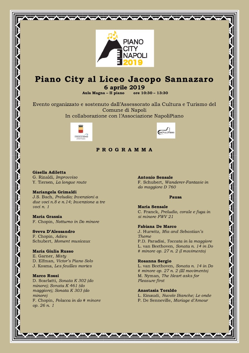 PIANO CITY AL SANNAZARO